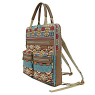 Women Bags Cowhide Canvas Backpack Laptop Bag School Bag Diaper Bag Travel Bag for Casual All Seasons Screen Color