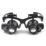 billiga Förstoringsglas-Kikare Förstoringsglas Headset Generisk 10X /20X 15mm Plast
