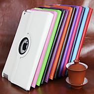 غطاء من أجل Apple آي باد ميني 4 باد البسيطة 3/2/1 باد 4/3/2 iPad Air 2 iPad Air مع حامل دوران360ْ غطاء كامل للجسم لون الصلبة قاسي جلد PU