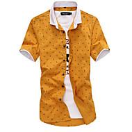 Tynd Herre Trykt mønster Weekend Plusstørrelser Skjorte Bomuld