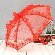 結婚式 / ビーチ / 日常 / マスカレード レース 傘 フックハンドル 20.9inch (約53cm) メタル / レース 22.8inch (約58cm)