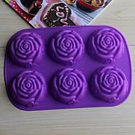 저렴한 -목록 bakeware 실리콘 (임의의 색) 초콜릿 케이크 젤리 베이킹 금형 장미