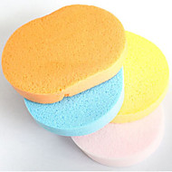 Soft Natural Sponge Face Cleansing Make-up Facial Washing Cosmetic (Random Color)