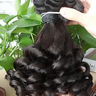 billige -Menneskehår Vevet Brasiliansk hår Bølget 1 Deler hår vever
