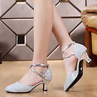 billige Moderne sko-Dame Moderne Kunstlær Høye hæler Lav hæl Rød Sølv Gull Lilla Kan ikke spesialtilpasses
