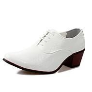 メンズ 靴 レザー 秋 冬 コンフォートシューズ フォーマルシューズ オックスフォードシューズ 用途 カジュアル パーティー ホワイト ブラック ダークブルー バーガンディー