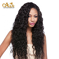 "cheap Human Hair Wigs-8""-26"" Indian Virgin Hair Curly Glueless Full Lace Wig Color Black With Baby Hair for Black Women"