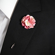 hesapli -Erkek Kadın's Broşlar Titanyum Çiçek Pembe ve Beyaz Şık Mücevher Günlük Kostüm takısı