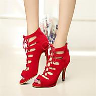 cheap -Women's Latin Shoes / Ballroom Shoes / Salsa Shoes Leatherette Sandal Indoor / Practice / Beginner Buckle Stiletto Heel Customizable