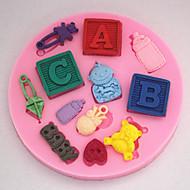 billige Bakeredskap-Bakevarer Babyen Fondant Form Kake Dekorasjon Form Sm-255