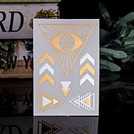 タトゥーステッカー - パターン/Hawaiian/腰/Waterproof - 女性/男性/大人/青少年 - 紙 - 14*9*0.2cm - パターン - 4 Pieces 個