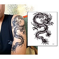 Loong Chinese Dragon Tattoo Stickers Temporary Tattoos(1 Pc)