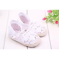 女の子 赤ちゃん フラット 赤ちゃん用靴 繊維 春 夏 秋 カジュアル ドレスシューズ 赤ちゃん用靴 リボン ホワイト ピンク