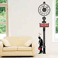 コンテンポラリー キャラクター 抽象風 結婚式 家族 友達 壁時計,ノベルティ柄 プラスチック その他 屋内/屋外 クロック