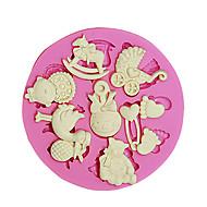 Pasta kek dekorasyon için 3d ayı ayak bebek oyuncak silikon fondan kalıpları şeker zanaat araçları çikolata kalıp