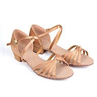 baratos Sapatilhas de Dança-Sapatos de Dança Latina / Dança de Salão / Sapatos de Salsa Cetim Sandália / Salto Presilha Salto Robusto Personalizável Sapatos de Dança