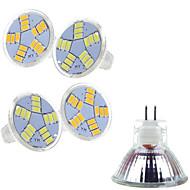 billige Spotlys med LED-5pcs 3 W 400-500 lm MR11 LED-spotpærer MR11 15 LED perler SMD 5730 Varm hvit / Kjølig hvit 12 V / 5 stk. / RoHs