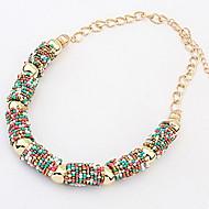 bohemia korálek polokruhový náhrdelník válce (rozmanité barvy) elegantní styl