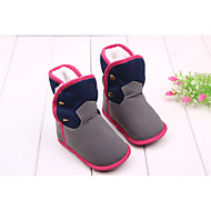 cheap Baby Shoes-Baby Girls' Boys' Shoes Fabric Winter Fall Fashion Boots Comfort Boots Mid-Calf Boots Booties/Ankle Boots Studded for Casual Outdoor Dress