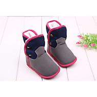 Gutt Jente Baby Støvler Trendy støvler Tekstil Høst Vinter Avslappet Formell Trendy støvler Med nagler Grå Fuksia