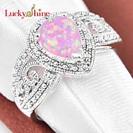 Férfi Női Uniszex Vallomás gyűrűk Kristály Születési kövek Szintetikus drágakövek Lógó Ékszerek Kompatibilitás