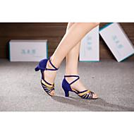 baratos Sapatilhas de Dança-Mulheres Sapatos de Dança Moderna Paetês / Sintético / Veludo Salto Alto Lantejoulas / Presilha / Cadarço Salto Cubano Não Personalizável