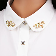 hesapli -yıldız broş (1pair) ovaljewelry püsküller / çapraz / bohemya zarif stili