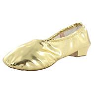 billige Moderne sko-Dame Balett / Ballettsko / Yoga Kunstlær Høye hæler / Splitt såle Tykk hæl Kan ikke spesialtilpasses Dansesko Sølv / Gull / Innendørs