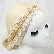 お買い得  フラワーガール用アクセサリー-人造真珠 ラインストーン 合金 - ヘッドバンド 1 結婚式 パーティー かぶと