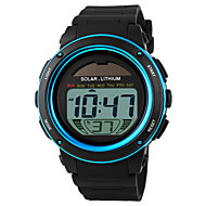 SKMEI Men's Sport Watch Wrist Watch Digital Watch Digital Rubber Black 30 m Water Resistant / Waterproof Alarm Calendar / date / day Digital Gold Blue Two Years Battery Life / Chronograph / Solar