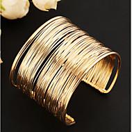 בגדי ריקוד נשים שכבות מרובות חלול צמידי חפתים מצוק רחב נשים עיצוב מיוחד וינטאג' מסיבה ארופאי צמידים תכשיטים זהב עבור Party יומי
