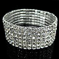 voordelige Vintage Armbanden-Strass Gesimuleerde diamant Bangles - Vintage Feest Bruids Zilver Armbanden Voor Kerstcadeaus Bruiloft Dagelijks gebruik