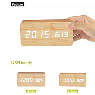 billiga Väckarklockor-Digital Trä Väckarklocka,LED