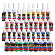דיו קעקוע Solong 40 צבעים להגדיר 5ml / בקבוק קעקוע פיגמנט Kit