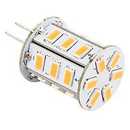 G4 LED-kornpærer 24 leds SMD 5730 Varm hvit 140lm 2500-3500K AC 12V