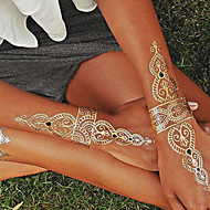 billiga Tatuering och body art-1 pcs Tatueringsklistermärken tillfälliga tatueringar Smyckeserier Vattentät / Ogiftig / Hawaiisk Body art / Ländrygg