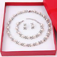 Žene Komplet nakita Sitne naušnice Igazgyöngy nyaklánc Pearl smjera Biseri Biseri Imitacija dijamanta Circle Shape Elegantno Vjenčanje
