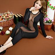 Ženy Ultra sexy Noční prádlo Jednobarevné Směs bavlny Černá