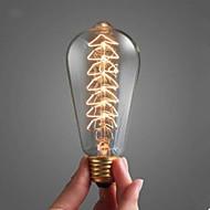 40 w bulb e27 gura mare spirală decorate cu lampă incandescentă lumina copac