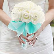 """Esküvői virágok Kézzel kötött Rózsák Csokrok Esküvő Selyem Hab 7,09"""" (Kb. 18 cm)"""