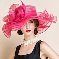 Hør Kentucky Derby Hat / Hatte med Blomst 1pc Bryllup / Speciel Lejlighed Medaljon