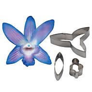 patru-c de flori dendrobium orhidee petală de tăiere, instrumente de tort de decorare fondantă accesorii mucegai cookie tăietor unelte