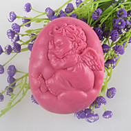 schlafender Engel formte Seifenform mooncake Form-Fondant-Kuchen Schokoladensilikonform, Dekorationswerkzeuge Backformen
