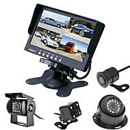 billiga Parkeringskamera för bil-renepai® 7 tum 4 in1 hd-skärm + buss 170 ° hd bil backkamera vattentät kamera kabellängd 6m, 10m, 16m, 20m,
