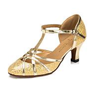 Women's / Kids' Dance Shoes Leatherette Leatherette Modern / Ballroom Heels Flared HeelPractice / Beginner / Professional / Customizable