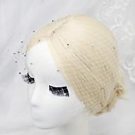 billiga Brudhuvudbonader-Bergkristall / Nät Birdcage slöjor med 1 Bröllop / Speciellt Tillfälle Hårbonad