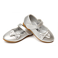 Jente Flate sko Komfort Kunstlær Vår Høst Bryllup Avslappet Formell Fest/aften Komfort Sløyfe Magisk teip Flat hæl Sølv Gull Flat
