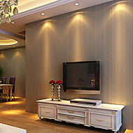 Contemporary Wallpaper Art Deco 3D Simple Stripe Wallpaper Wall Covering Non-woven Fabric Wall Art