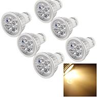GU10 Точечное LED освещение A50 4 светодиоды Высокомощный LED Диммируемая Декоративная Тёплый белый 400lm 3500K AC 110-130V