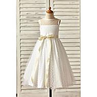 Γραμμή Α Μέχρι τον αστράγαλο Φόρεμα για Κοριτσάκι Λουλουδιών - Τούλι Αμάνικο Με Κόσμημα με Φιόγκος(οι) / Ζώνη / Κορδέλα με LAN TING Express